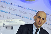 CEO Louis Gallois of EADS gives a press conference on the annual result of 2011 of the company EADS is a pan European aerospace corporation and...
