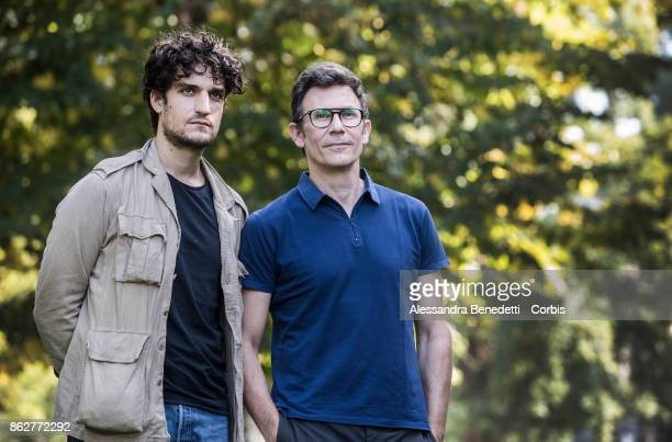 Louis Garrel and Michel Hazanavicius attend a photocall for 'Redoubtable ' on October 18 2017 in Rome Italy