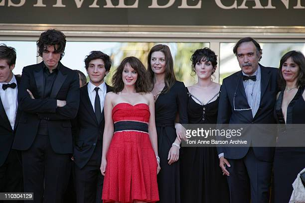 Louis Garrel guest Ludivine Sagnier and Chiara Mastroianni Alice Butaud Paulo Branco and his wife