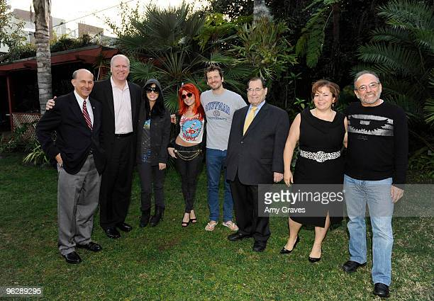 Louis Gohmert Pat Crowley Katy Perry Bonnie McKee Dr Luke Jerrold Nadler Linda Sanchez and Buddy Brundo attend the GRAMMY Congressional Briefing at...