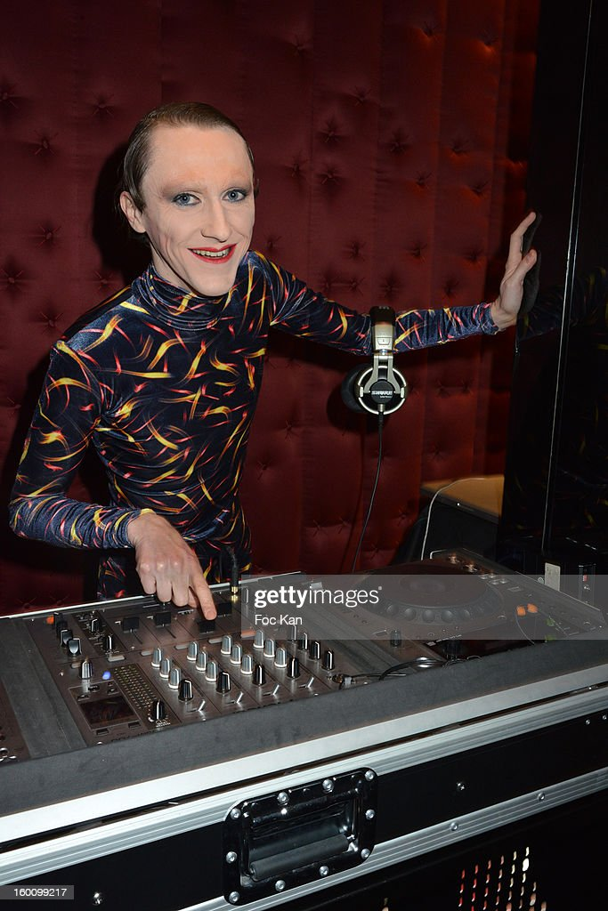 DJ Louis Heel attends the 'Body Double' Ali Mahdavi Exhibition Preview Cocktail At Hotel W on January 25, 2013 in Paris, France.