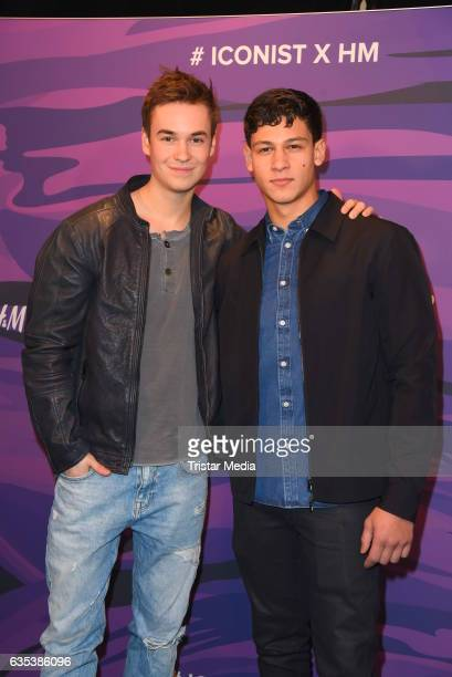 Louis Held and Emilio Sakraya Moutaoukkil attend the Young ICONs Award in cooperation with HM and Tiffany's Co at BRLO Brwhouse on February 14 2017...