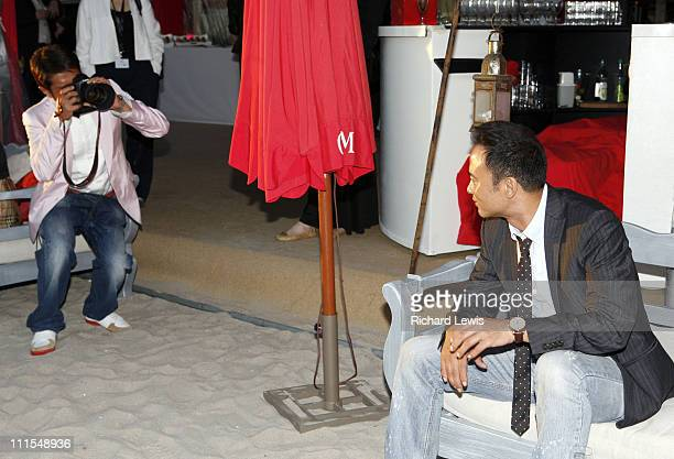 Louis Koo and Simon Yam during 2007 Cannes Film Festival Miramar 'Triangle' Party in Cannes France