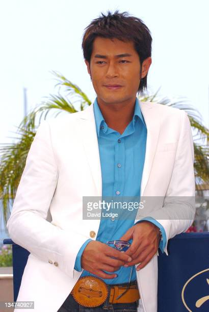 Louis Koo during 2006 Cannes Film Festival 'Election 2' Photocall at Palais des Festival Terrace in Cannes France