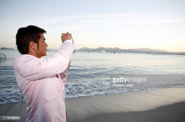 Louis Koo during 2007 Cannes Film Festival Miramar 'Triangle' Party in Cannes France