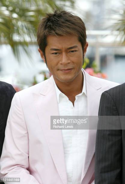 Louis Koo during 2007 Cannes Film Festival 'Triangle' Photocall at Palais de Festival in Cannes France