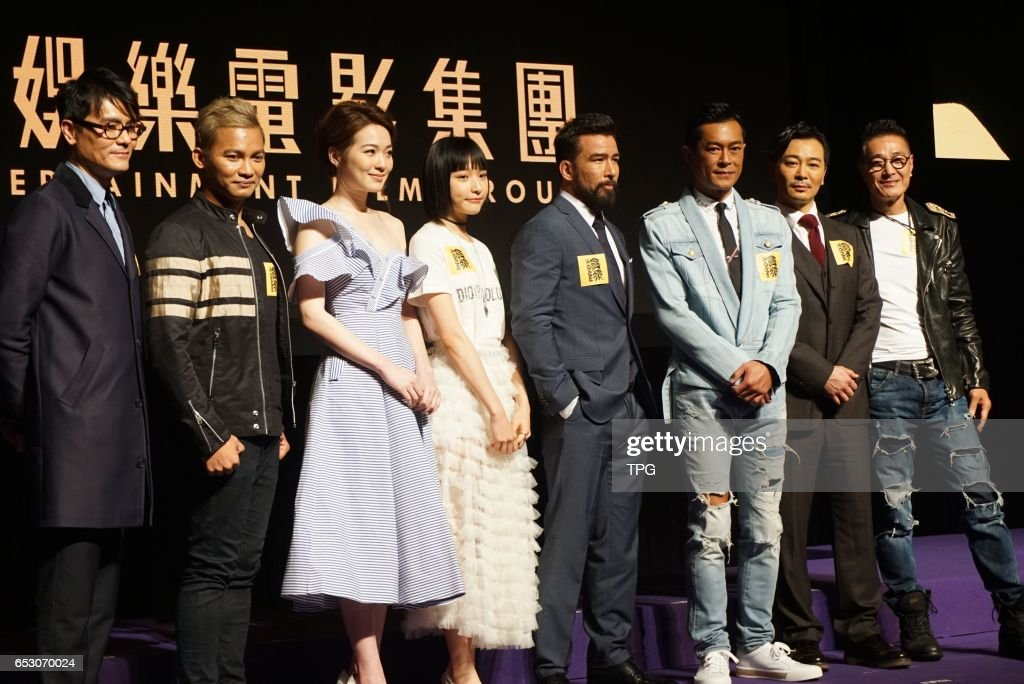 Louis Koo, Gordon Lam, Sammo Hung, Jacky Cai, Thai boxing champion Tony Jaa, Yue Wu and Chris Collins showed up together to present their new movie Paradox on 13th March, 2017 in Hongkong, China.