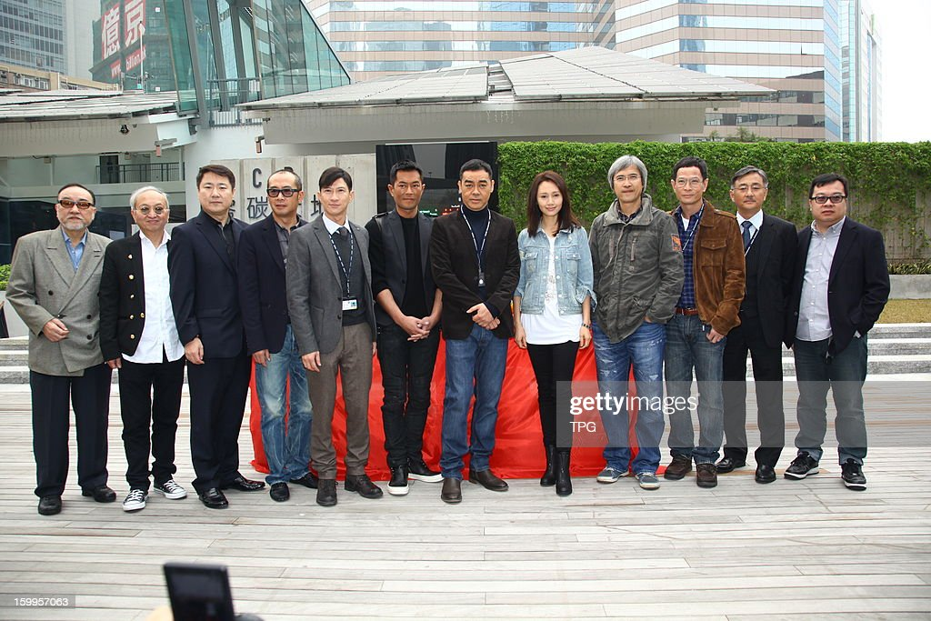 Louis Koo, Nick Cheung, Ching Wan Lau and Yuan Quan attended opening ceremony of movie The Cartel War on Wednesday January 23, 2013 in Hong Kong, China.