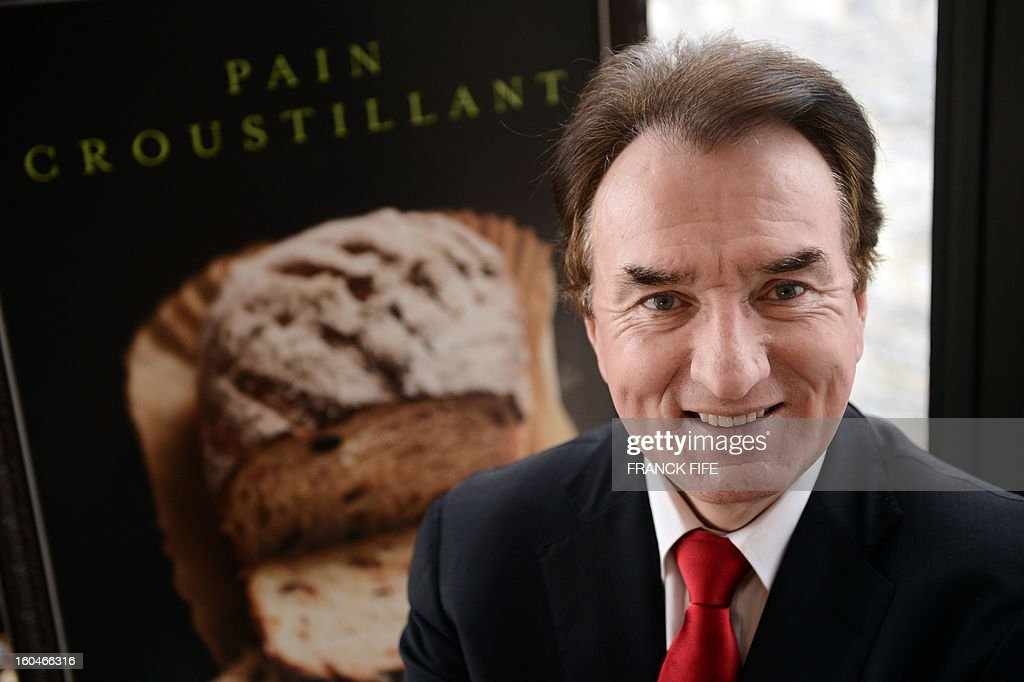 Louis Le Duff, chairman of the group Le Duff which includes brands such as Brioche Dorée, Del Arte, Bridor Fournil The Pierre, La Madeleine poses at his office in central Paris on January 31, 2013. Le Duff announced yesterday that they had acquired Mimi's Cafe, a fast food chain in the US, their third purchase in under 2 years to increase their presence and profit lines. FIFE