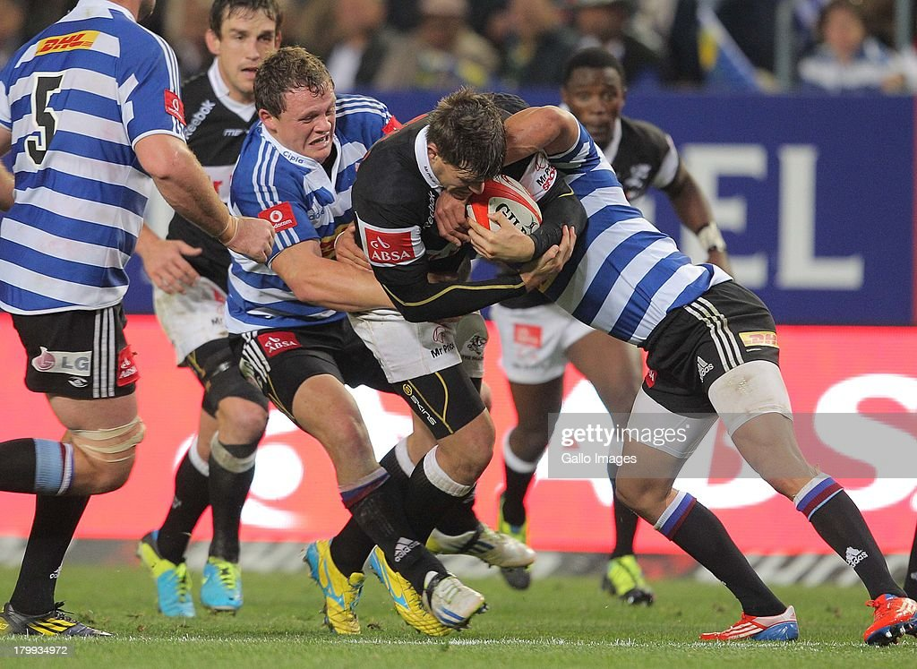 Louis Ludik of Sharks in action during the Absa Currie Cup match between DHL Western Province and The Sharks from DHL Newlands on September 07 2013...
