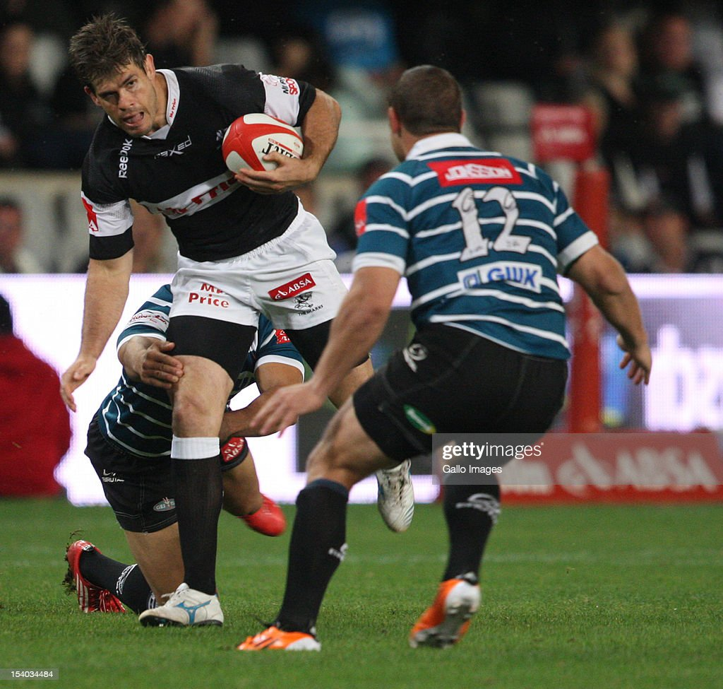 Louis Ludik on attack during the Absa Currie Cup match between The Sharks and GWK Griquas at Mr Price KINGS PARK on October 12, 2012 in Durban, South Africa.