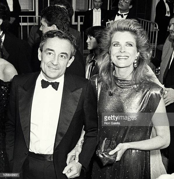 Louis Malle and Candice Bergen during 57th Annual Academy Awards at Dorothy Chandler Pavilion in Los Angeles California United States