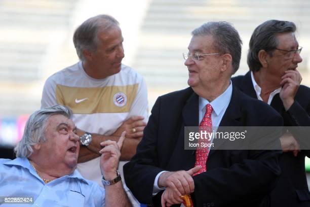 Louis NICOLLIN / George FRECHE Entrainement de Montpellier Stade de la Mosson