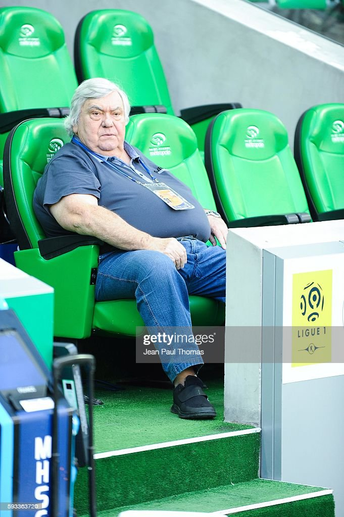 Louis NICOLLIN president of Montpellier during the Ligue 1 match between As Saint Etienne and Montpellier Herault at Stade GeoffroyGuichard on August...