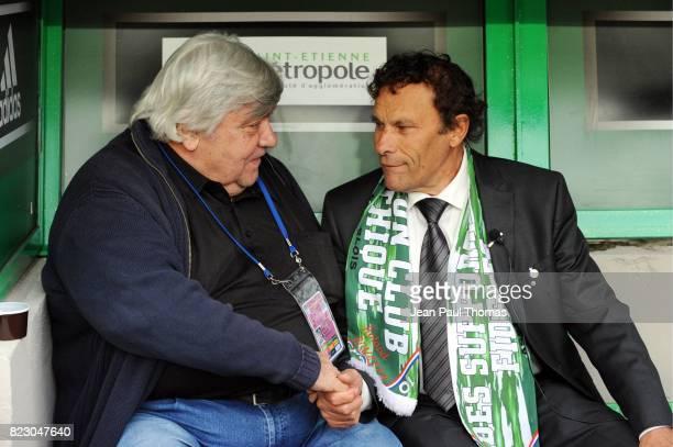 Louis Nicollin Roland ROMEYER Saint Etienne / Montpellier 6e journee Ligue1