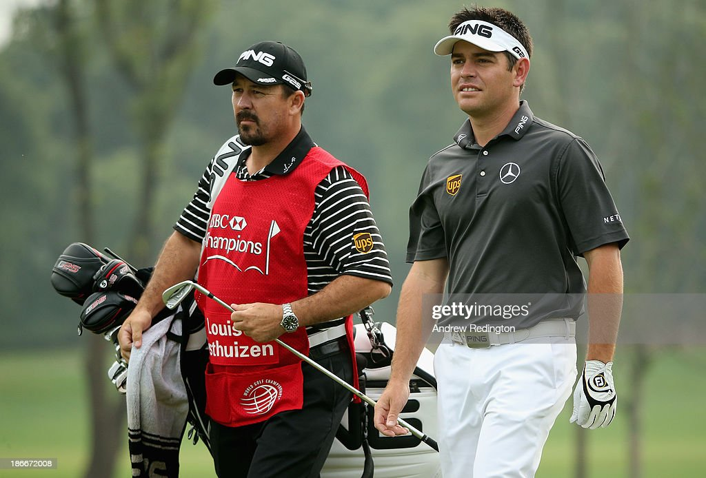 Louis Oosthuizen of Sout Africa in action during the final round of the WGC - HSBC Champions at the Sheshan International Golf Club on November 3, 2013 in Shanghai, China.
