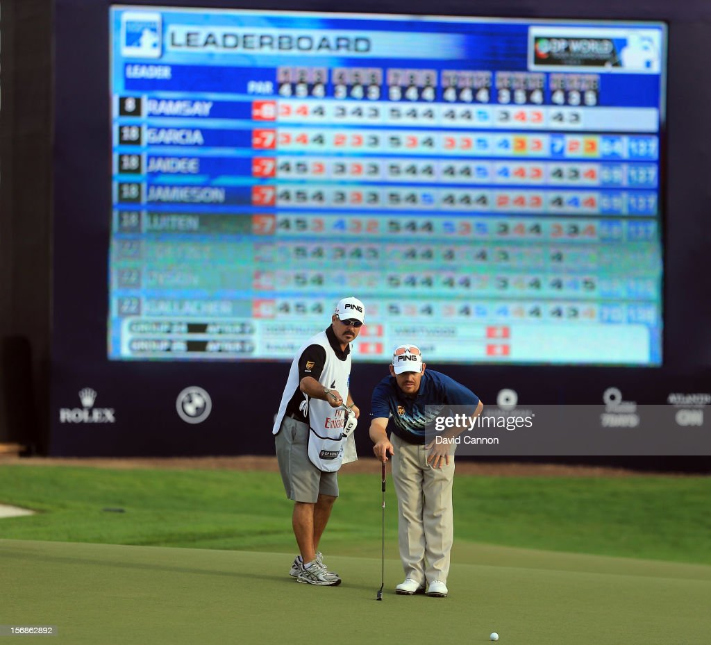 <a gi-track='captionPersonalityLinkClicked' href=/galleries/search?phrase=Louis+Oosthuizen&family=editorial&specificpeople=241573 ng-click='$event.stopPropagation()'>Louis Oosthuizen</a> of South Africa attempts a birdie putt at the par 5, 18th hole during the second round of the 2012 DP World Tour Championship on the Earth Course at Jumeirah Golf Estates on November 23, 2012 in Dubai, United Arab Emirates.