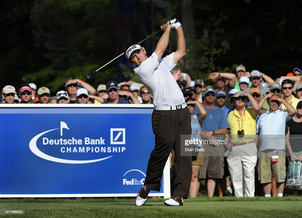 <a gi-track='captionPersonalityLinkClicked' href=/galleries/search?phrase=Louis+Oosthuizen&family=editorial&specificpeople=241573 ng-click='$event.stopPropagation()'>Louis Oosthuizen</a> of South Africa hits a drive on the 12th hole during the third round of the Deutsche Bank Championship at TPC Boston on September 2, 2012 in Norton, Massachusetts.