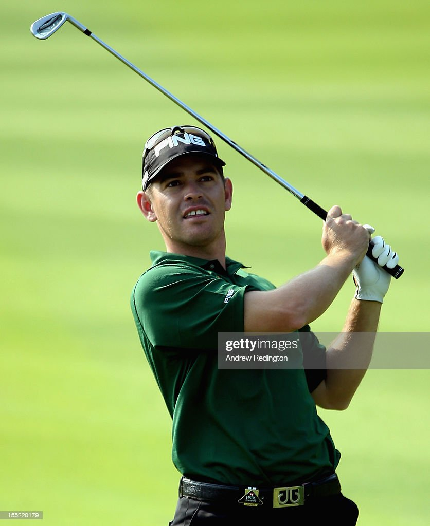 <a gi-track='captionPersonalityLinkClicked' href=/galleries/search?phrase=Louis+Oosthuizen&family=editorial&specificpeople=241573 ng-click='$event.stopPropagation()'>Louis Oosthuizen</a> of South Africa hits his approach to the first hole during the second round of the WGC HSBC Champions at the Mission Hills Resort on November 2, 2012 in Shenzhen, China.