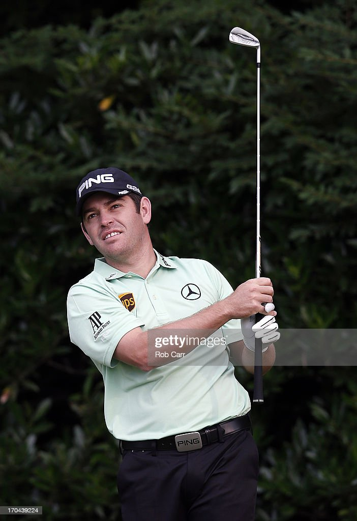 Louis Oosthuizen of South Africa hits his tee shot on the 11th hole during Round One of the 113th U.S. Open at Merion Golf Club on June 13, 2013 in Ardmore, Pennsylvania.