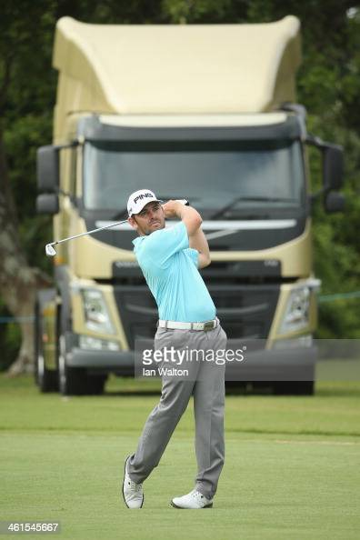 Louis Oosthuizen of South Africa in action during the first round of the 2014 Volvo Golf Champions at Durban Country Club on January 9 2014 in Durban...