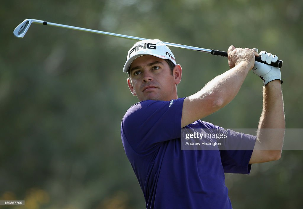 Louis Oosthuizen of South Africa in action during the Pro Am prior to the start of the Commercial Bank Qatar Masters held at Doha Golf Club on January 22, 2013 in Doha, Qatar.