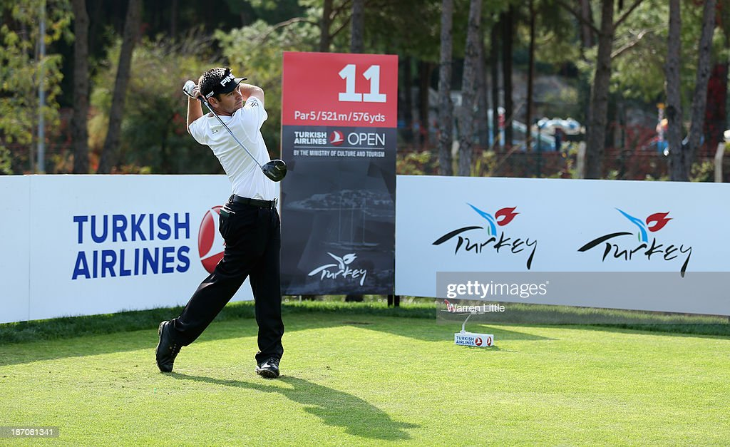 Louis Oosthuizen of South Africa in action during the pro-am as a preview for the Turkish Airlines Open at Montgomerie Maxx Royal Course on November 6, 2013 in Antalya, Turkey.