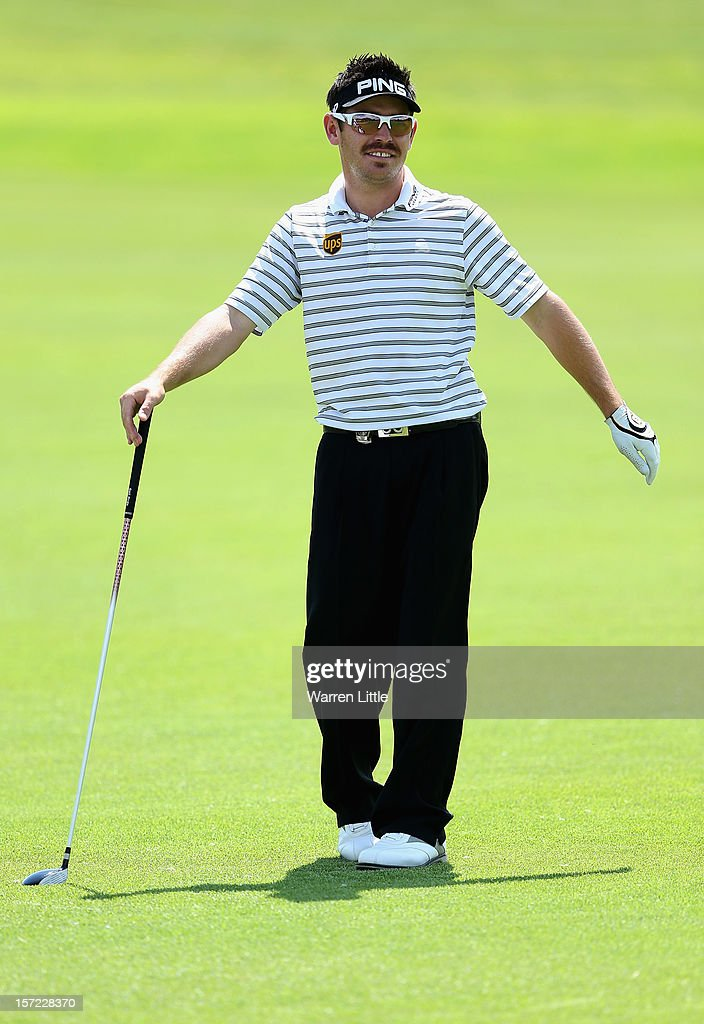 Louis Oosthuizen of South Africa in action during the second round of the Nedbank Golf Challenge at the Gary Player Country Club on November 30, 2012 in Sun City, South Africa.