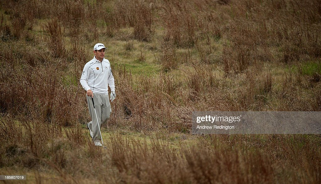 Louis Oosthuizen of South Africa in action during the second round of the BMW Masters at Lake Malaren Golf Club on October 25, 2013 in Shanghai, China.