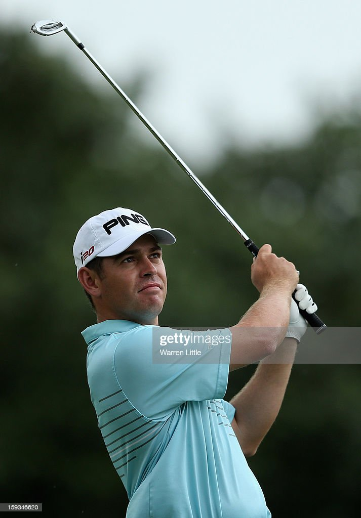 <a gi-track='captionPersonalityLinkClicked' href=/galleries/search?phrase=Louis+Oosthuizen&family=editorial&specificpeople=241573 ng-click='$event.stopPropagation()'>Louis Oosthuizen</a> of South Africa in action during the third round of the Volvo Golf Champions at Durban Country Club on January 12, 2013 in Durban, South Africa.