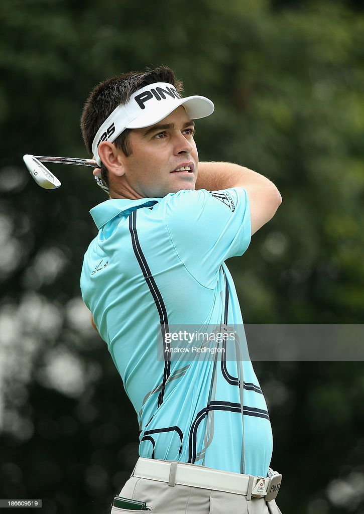 Louis Oosthuizen of South Africa in action during the third round of the WGC - HSBC Champions at the Sheshan International Golf Club on November 2, 2013 in Shanghai, China.