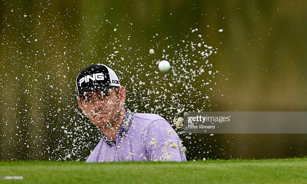 Louis Oosthuizen of South Africa on the par five 2nd hole during the third round of the WGC HSBC Champions at the Sheshan International Golf Club on...
