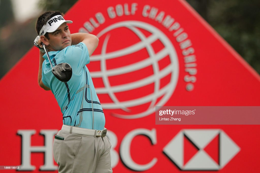Louis Oosthuizen of South Africa plays a shot during the third round of the WGC - HSBC Champions at the Sheshan International Golf Club on November 2, 2013 in Shanghai, China.