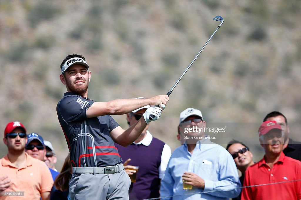 Louis Oosthuizen of South Africa plays a shot during the third round of the World Golf Championships - Accenture Match Play Championship at The Golf Club at Dove Mountain on February 21, 2014 in Marana, Arizona.