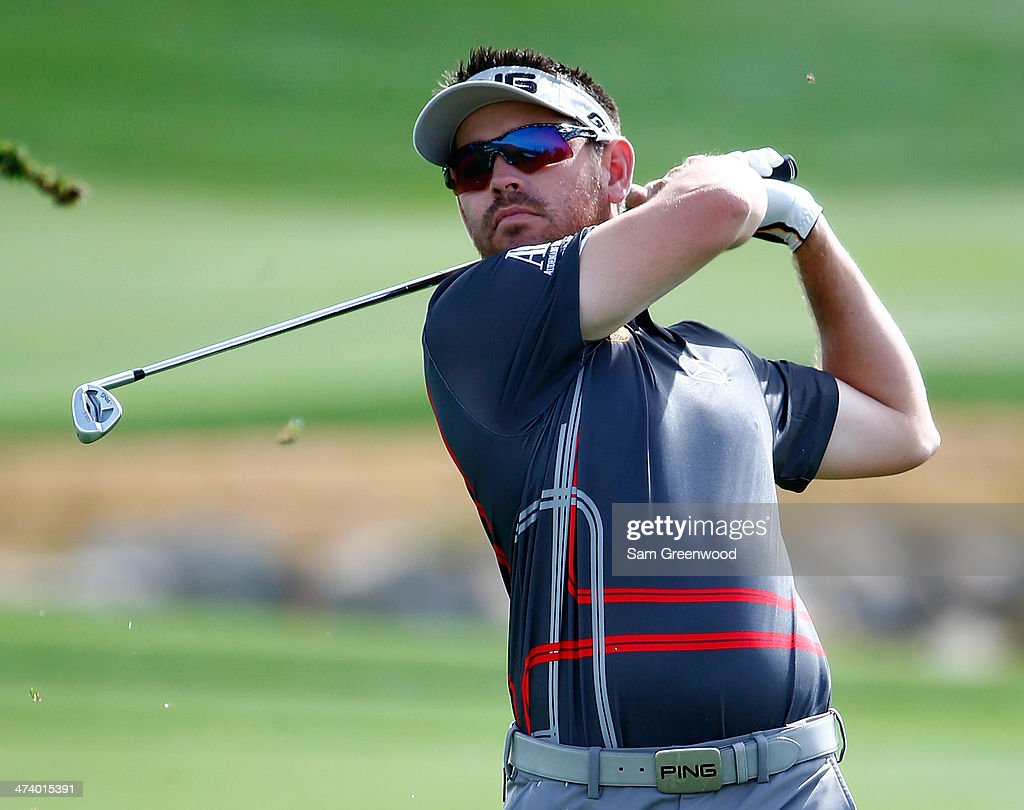 Louis Oosthuizen of South Africa plays a shot on the 4th hole during the third round of the World Golf Championships - Accenture Match Play Championship at The Golf Club at Dove Mountain on February 21, 2014 in Marana, Arizona.