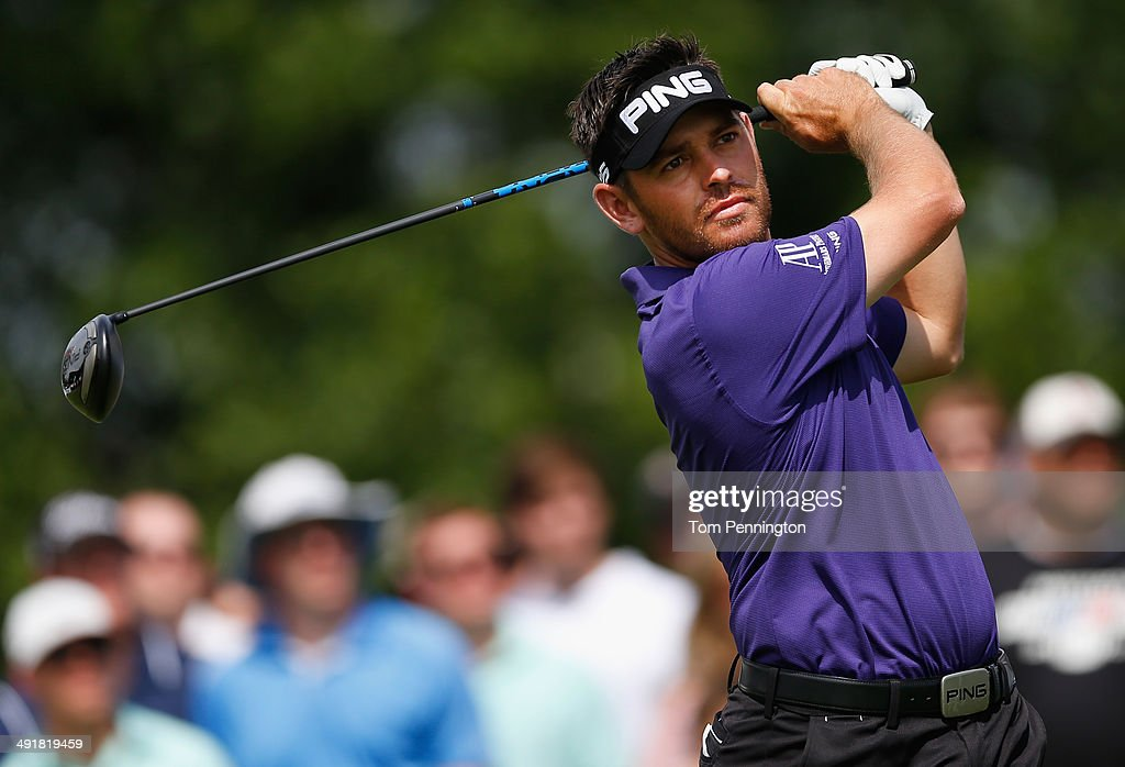 <a gi-track='captionPersonalityLinkClicked' href=/galleries/search?phrase=Louis+Oosthuizen&family=editorial&specificpeople=241573 ng-click='$event.stopPropagation()'>Louis Oosthuizen</a> of South Africa plays a tee shot on the eighteenth hole during Round Three of the HP Byron Nelson Championship at the TPC Four Seasons Resort on May 17, 2014 in Irving, Texas.