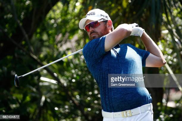 Louis Oosthuizen of South Africa plays his shot from the fifth tee during the second round of THE PLAYERS Championship at the Stadium course at TPC...