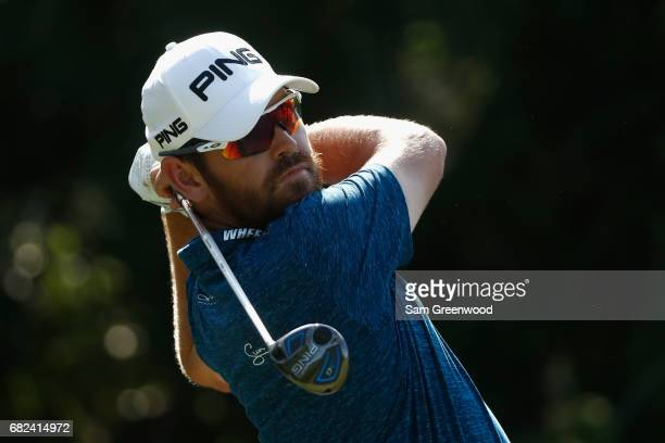 Louis Oosthuizen of South Africa plays his shot from the seventh tee during the second round of THE PLAYERS Championship at the Stadium course at TPC...