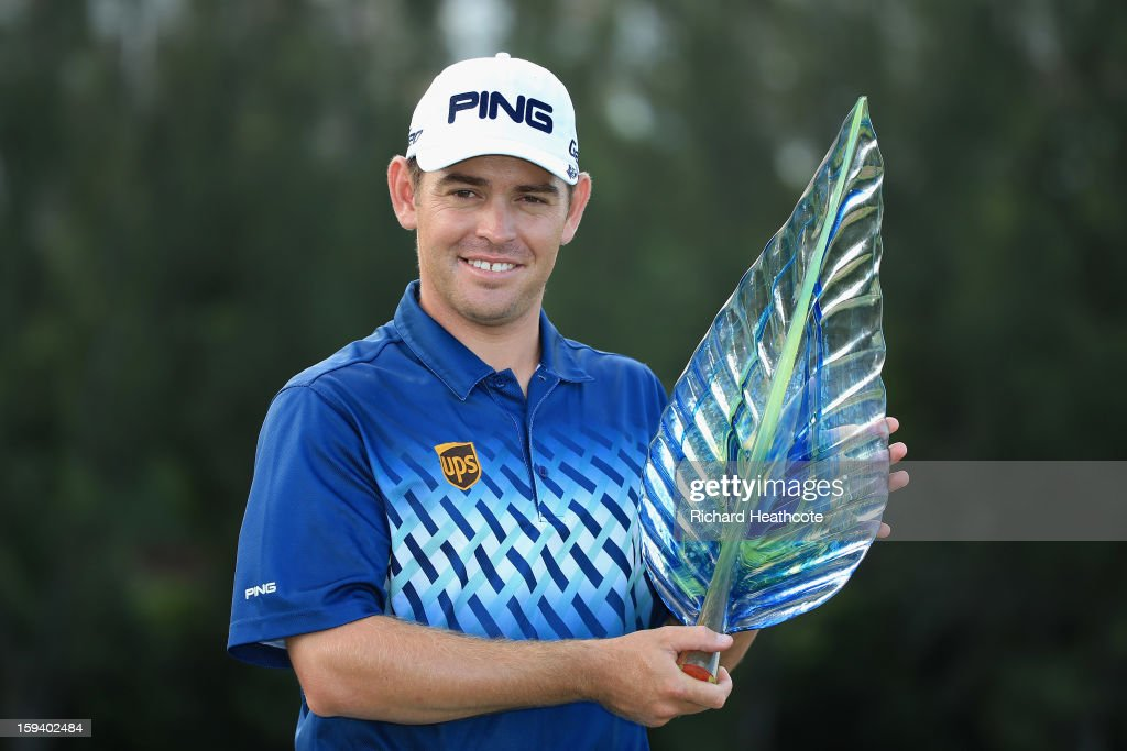 <a gi-track='captionPersonalityLinkClicked' href=/galleries/search?phrase=Louis+Oosthuizen&family=editorial&specificpeople=241573 ng-click='$event.stopPropagation()'>Louis Oosthuizen</a> of South Africa poses with the trophy after securing victory during the final round of the Volvo Champions at Durban Country Club on January 13, 2013 in Durban, South Africa.