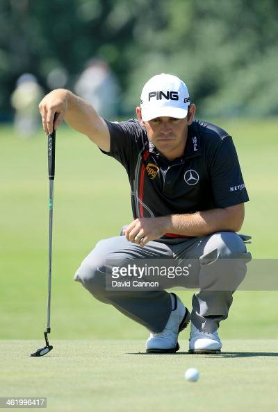 Louis Oosthuizen of South Africa putting on the 11th green during the final round of the 2014 Volvo Golf Champions at Durban Country Club on January...