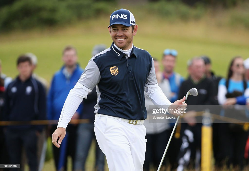 <a gi-track='captionPersonalityLinkClicked' href=/galleries/search?phrase=Louis+Oosthuizen&family=editorial&specificpeople=241573 ng-click='$event.stopPropagation()'>Louis Oosthuizen</a> of South Africa smiles on the 6th green during the third round of the 144th Open Championship at The Old Course on July 19, 2015 in St Andrews, Scotland.
