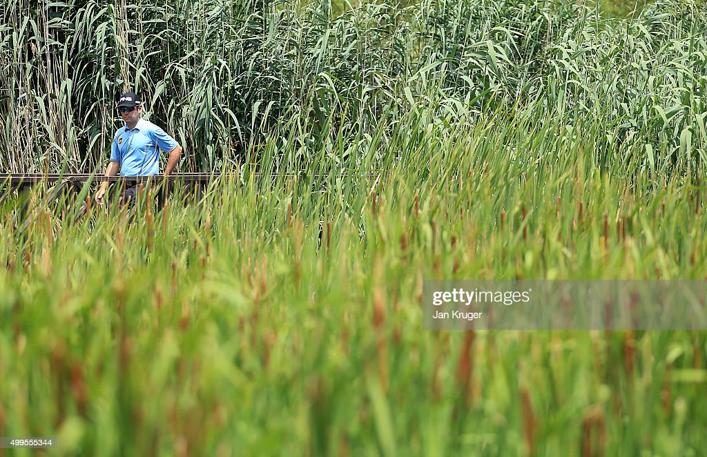 Louis Oosthuizen of South Africa takes part in a practise session ahead of the Nedbank Golf Challenge at Gary Player CC on December 2 2015 in Sun...
