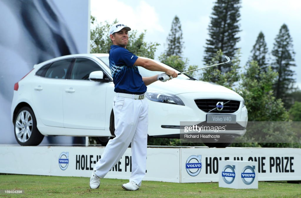 Louis Oosthuizen of South Africa tee's off at the 12th during the final round of the Volvo Champions at Durban Country Club on January 13, 2013 in Durban, South Africa.