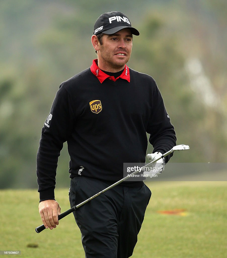 Louis Oosthuizen of South Africa walks towards the green on the tenth hole during the second round of the Ballantine's Championship at Blackstone Golf Club on April 26, 2013 in Icheon, South Korea.