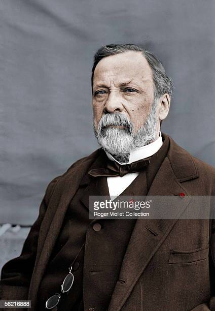 Louis Pasteur French chemist and biologist Colourized photo
