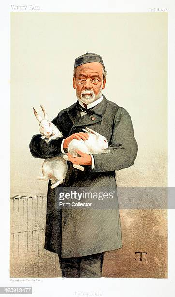 Louis Pasteur French chemist and founder of modern bacteriology 1887 Pasteur holding rabbits used in his work on hydrophobia Pasteur developed the...