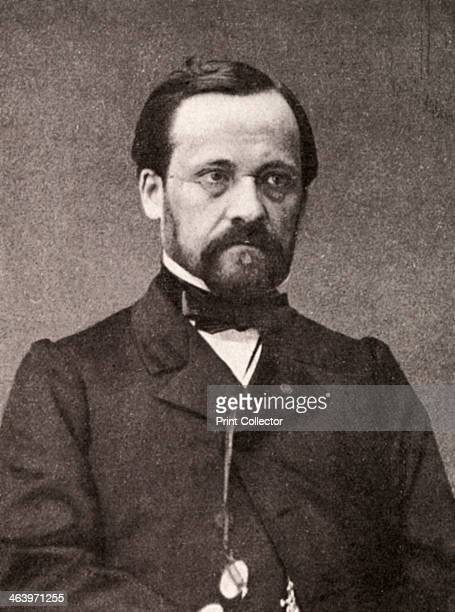 Louis Pasteur French microbiologist and chemist 19th century Portrait of Pasteur pioneering scientist who founded the science of microbiology proved...
