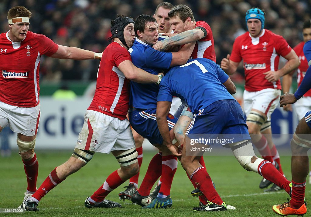 Louis Picamoles of France in action during the 6 Nations match between France and Wales at the Stade de France on February 9,, 2013 in Paris, France.