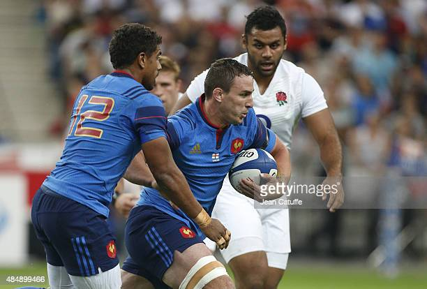 Louis Picamoles of France in action during the international friendly match in preparation of 2015 Rugby World Cup between France and England at...