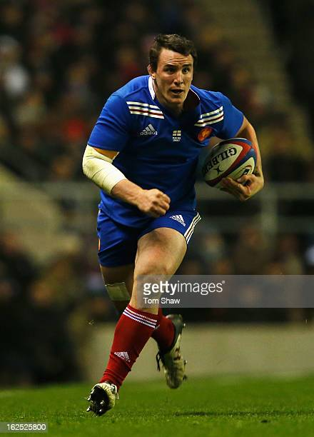 Louis Picamoles of France in action during the RBS Six Nations match between England and France at Twickenham Stadium on February 23 2013 in London...
